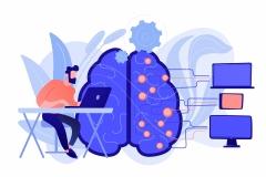 Artificial intelligence concept vector illustration.